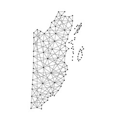 map of belize from polygonal black lines vector image