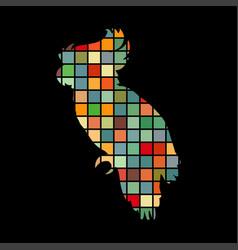 parrot bird cat pet color silhouette animal vector image