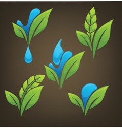 plant and water vector image vector image