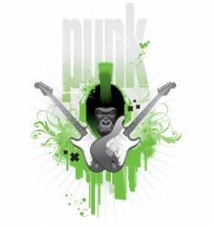 punk gorilla vector image