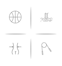 sport fitness and recreation simple linear icon vector image vector image