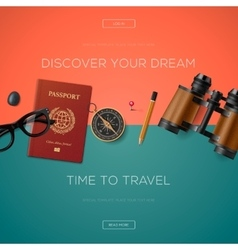 Tourism website template vector image vector image