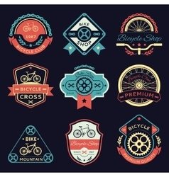 Bicycle and bike color logo vector image