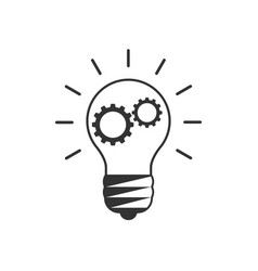 lightbulb with cogs inside vector image
