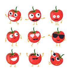 Funny tomato - isolated cartoon emoticons vector