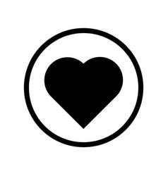 heart icon - iconic design vector image