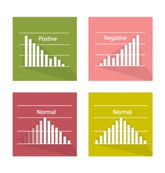 Normal and Not Normal Distribution Curve vector image vector image