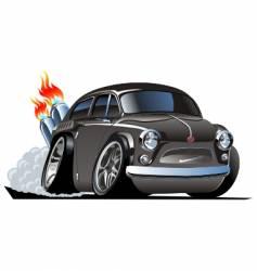 retro cartoon hot rod vector image vector image