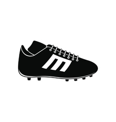 Sport shoe with cleats icon vector