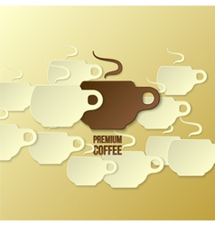 coffee paper background vector image