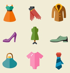 Fashion color icon set vector image