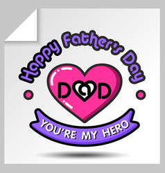 Fathers day icons 13 vector