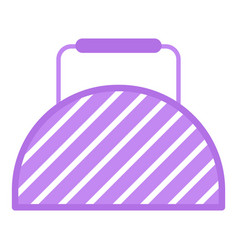 fitness bag icon flat style vector image