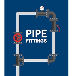 Pipe fitting set Pipeline Pipe fitting for repair vector image