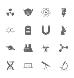 Science silhouette icons set vector image vector image