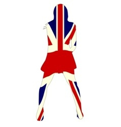 Union Jack Girl vector image vector image