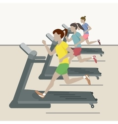 Women at the Gym vector image