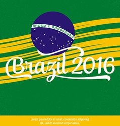 2016 Brazil Patriotic banner for website template vector image