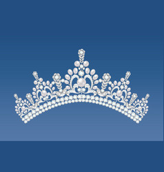 A beautiful crown tiara with gems vector