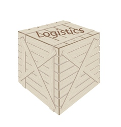 A Wooden Cargo Box for Transportation and Logistic vector image