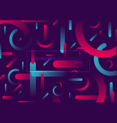 Abstract trendy simple shape geometric rounded vector