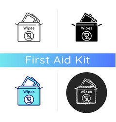Alcohol free wipes icon vector