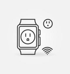 American smart socket in smart watch vector