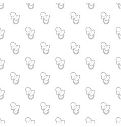 baby pacifier pattern seamless vector image