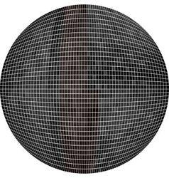 Black Ball in mosaic vector