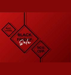 black friday sale banner layout graphic background vector image