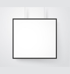 blank white frame on wall mockup ready for a vector image