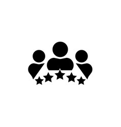 business client icon people group with 5 vector image