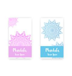 card with mandala decorative elements background vector image