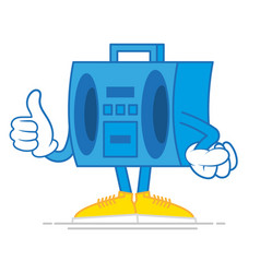 cartoon boombox vector image