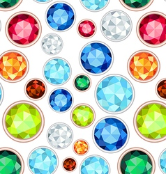Colored gemstone saturated color seamless pattern vector