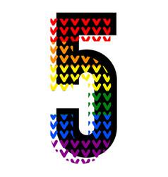 Creative bright font alphabet in style pop art vector