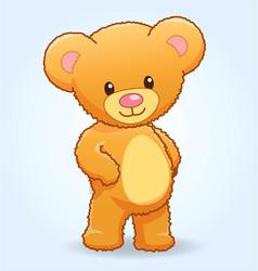Cute cuddly teddy bear standing vector