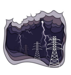 Electrical energy concept electric power lines vector