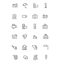 electronics hand drawn doodle icons 5 vector image