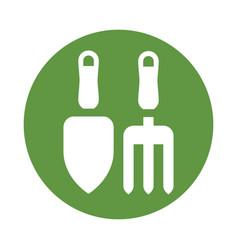 gardening tools icon vector image