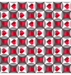 Geometric pattern with hearts vector image