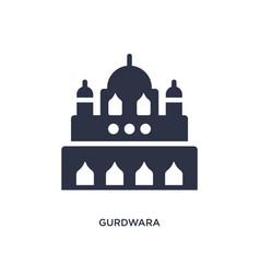 Gurdwara icon on white background simple element vector