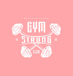 gym club emblem for t-shirt vector image
