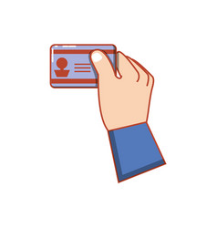 Hand human with id document vector