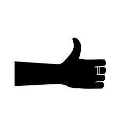 hand showing symbol like making thumb up gesture vector image