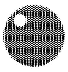 Hexagon halftone sphere icon vector