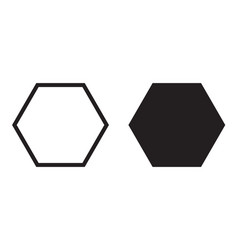 hexagon icon six sided polygon hexagon vector image