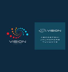Laser vision correction clinic logo concept vector