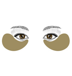 lifting mask for skin around eyes vector image