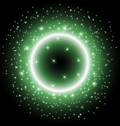 light ring with stardust green color vector image vector image